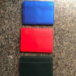 Blue red green ID Card Case